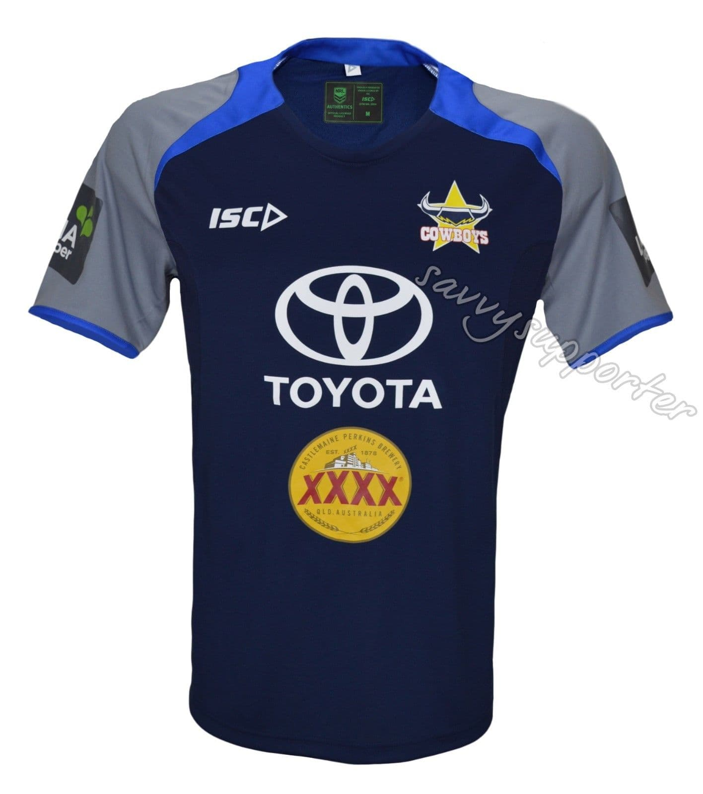North Queensland Cowboys 2017 Nrl Electric Blue Navy Training Shirt Electricity Basic Courses
