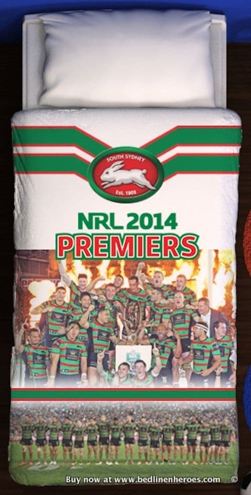 South Sydney Rabbitohs Premiers Quilt Doona Cover Set Single Double Queen King Ebay