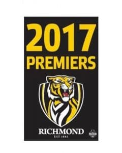 Richmond Tigers AFL Premiers Wall Supporters Cape Flag