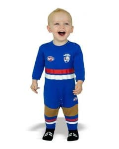 Western Bulldogs AFL Infant Toddler Onesie Footysuit