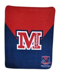 Melbourne Demons Polar Fleece Throw Blanket
