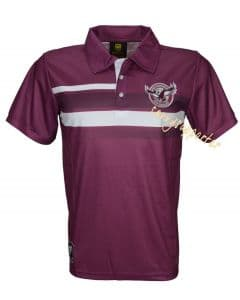 Manly Sea Eagles NRL Mens Sublimated Polo Shirt