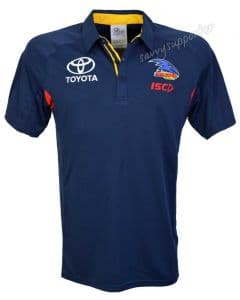 Adelaide Crows AFL Mens Navy Media Polo Shirt