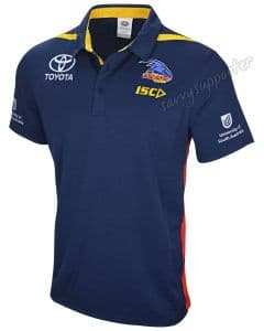 Adelaide Crows 2019 AFL Navy Media Polo Shirt