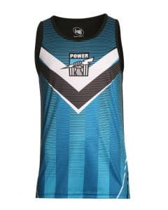 Port Adelaide Power 2018 AFL Sublimated Training Singlet