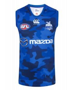 North Melbourne Kangaroos 2018 AFL On Field Training Guernsey