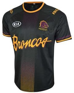 Brisbane Broncos 2020 NRL Mens Run Out Tee Shirt