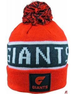GWS Giants 2019 AFL Bar Beanie