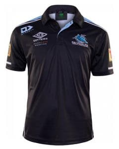 Cronulla Sharks 2020 NRL Mens Media Polo Shirt