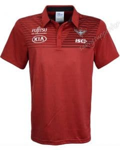 Essendon Bombers 2018 AFL ISC Red Media Polo Shirt