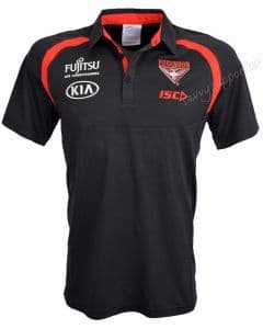 Essendon Bombers 2018 AFL ISC Black Performance Polo Shirt