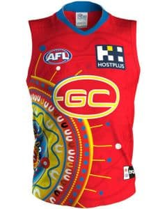 Gold Coast Suns 2020 AFL Mens Indigenous Guernsey