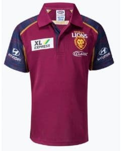 Brisbane Lions 2020 AFL Mens Media Polo Shirt