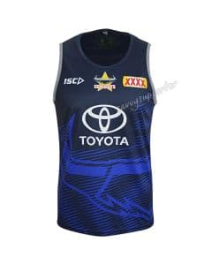 North Queensland Cowboys 2019 NRL Mens Navy Training Singlet