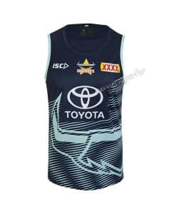 North Queensland Cowboys 2019 NRL Mens Navy Glacier Training Singlet
