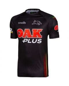 Penrith Panthers 2020 NRL Mens Black Training Shirt