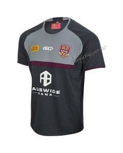 QLD Maroons 2019 Mens State of Origin Carbon Training Shirt