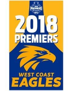 West Coast Eagles 2018 Premiers Wall Flag