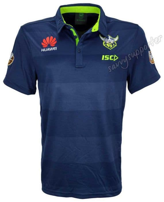 7cb76db374f Canberra Raiders 2018 NRL ISC Navy Performance Polo Shirt ...